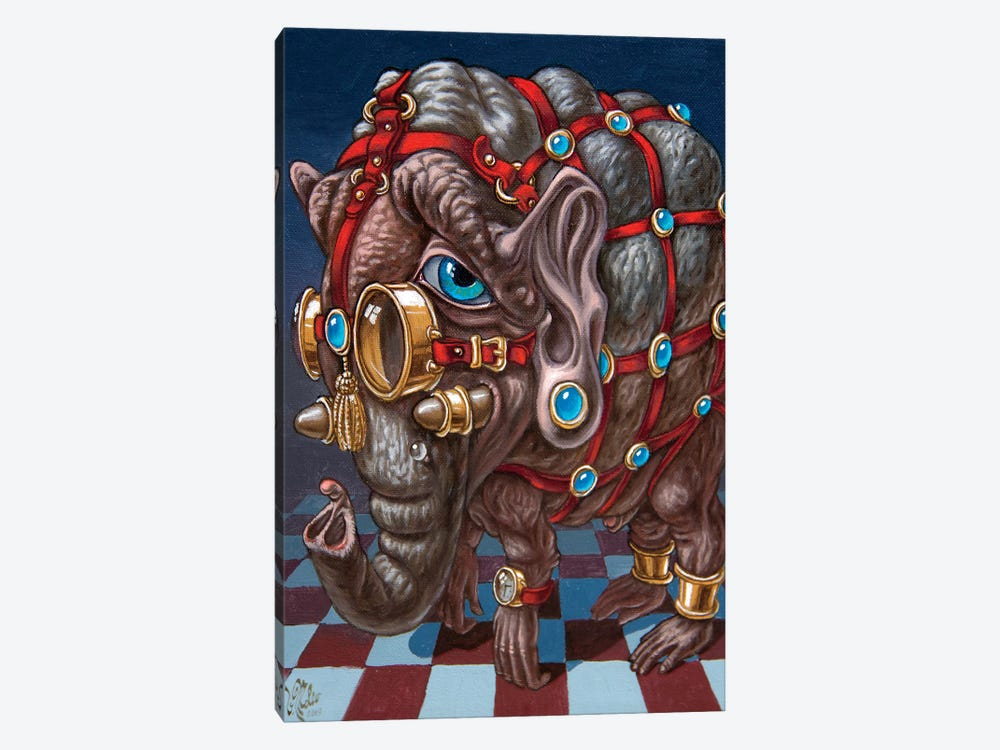 Many-Eyed Elephant by Victor Molev 1-piece Canvas Artwork