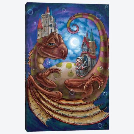 The First Dream Of A Celestial Dragon. Canvas Print #VMO111} by Victor Molev Canvas Artwork