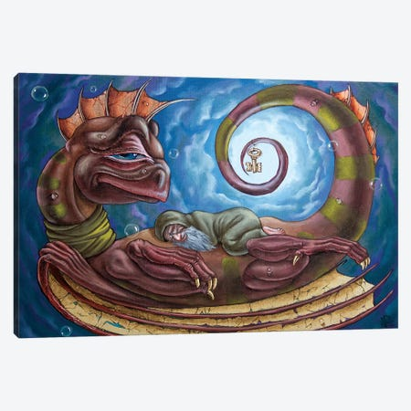 The Third Dream Of Celestial Dragon Canvas Print #VMO113} by Victor Molev Canvas Artwork