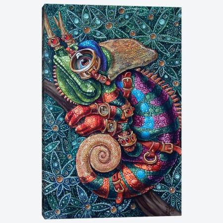 Chameleon 3-Piece Canvas #VMO11} by Victor Molev Canvas Artwork