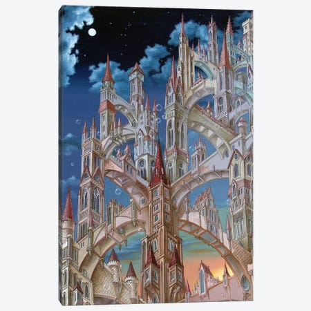 City Of Wandering Towers Canvas Print #VMO14} by Victor Molev Art Print
