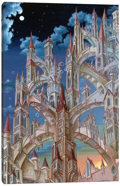 City Of Wandering Towers Canvas Art Print