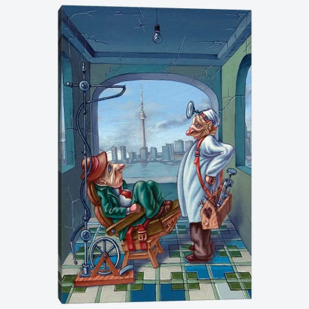 Dentist Canvas Print #VMO22} by Victor Molev Canvas Art Print