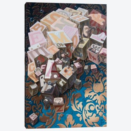 Einstein. Cubes Canvas Print #VMO27} by Victor Molev Canvas Art