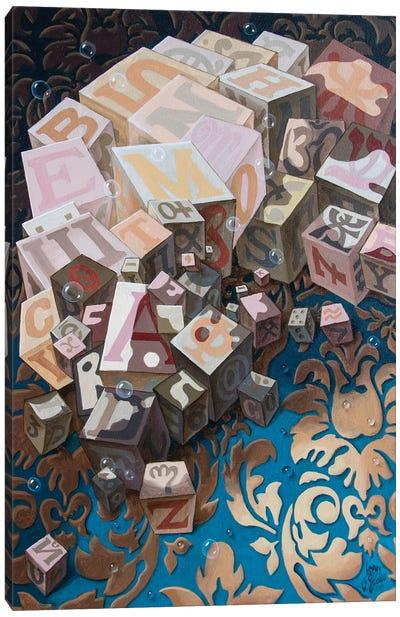 Einstein. Cubes Canvas Art Print