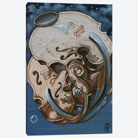 Einstein's Violin Canvas Print #VMO28} by Victor Molev Art Print