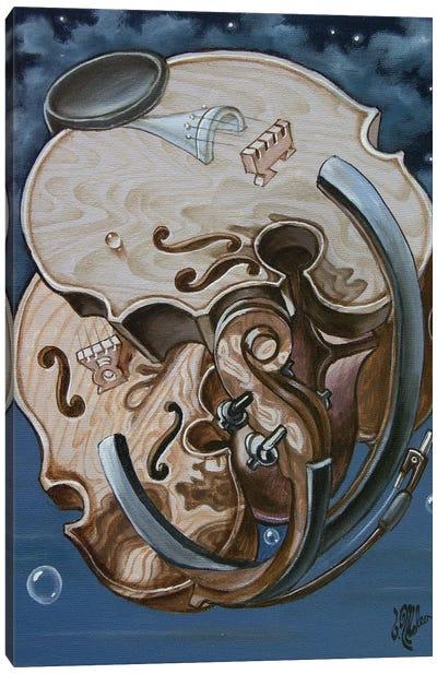 Einstein's Violin Canvas Art Print