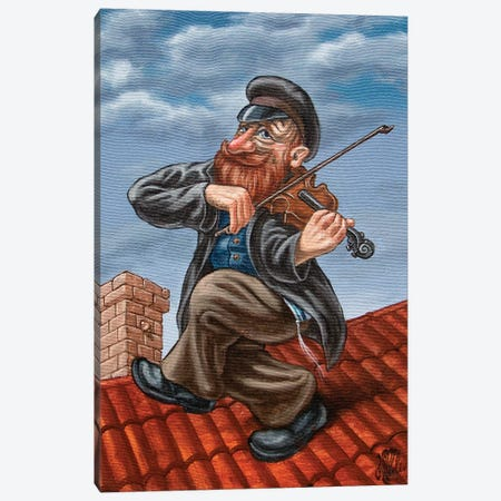 Fiddler On The Roof Canvas Print #VMO30} by Victor Molev Canvas Artwork