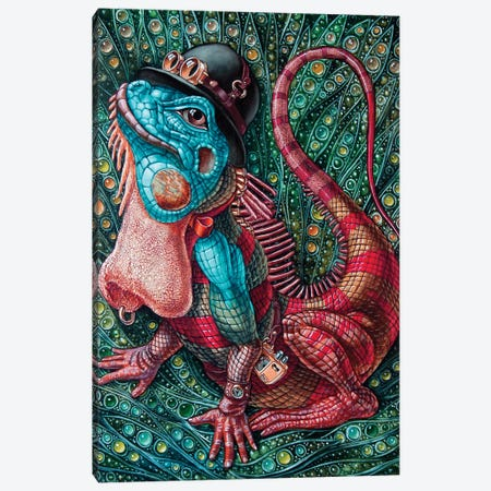 Iguana Canvas Print #VMO43} by Victor Molev Art Print