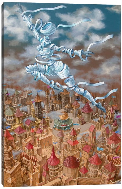 Jerusalem Mirage Canvas Art Print