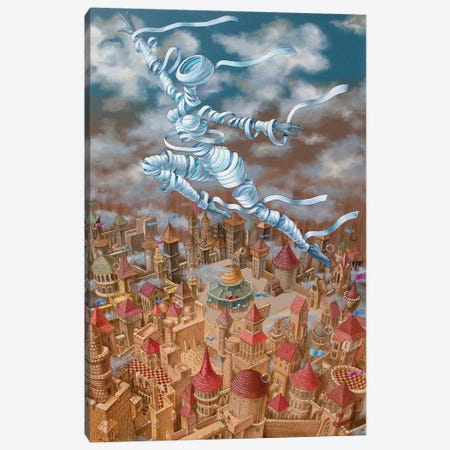 Jerusalem Mirage Canvas Print #VMO44} by Victor Molev Canvas Artwork