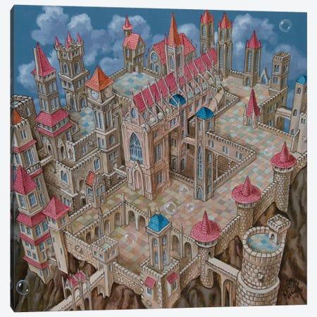 M.C. Escher City Canvas Print #VMO50} by Victor Molev Canvas Art