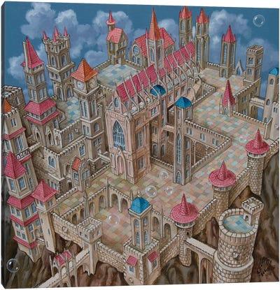 M.C. Escher City Canvas Art Print