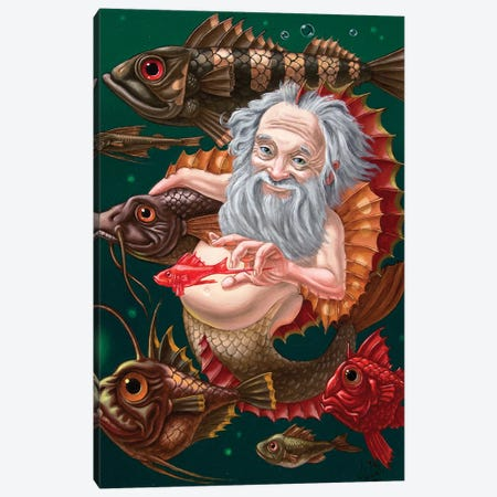 Merman 3-Piece Canvas #VMO51} by Victor Molev Canvas Art