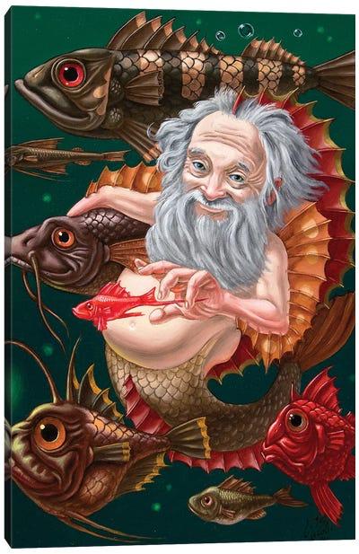 Merman Canvas Art Print