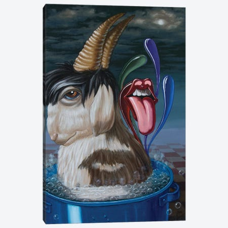 Mick Jaggers Soup Canvas Print #VMO52} by Victor Molev Canvas Artwork