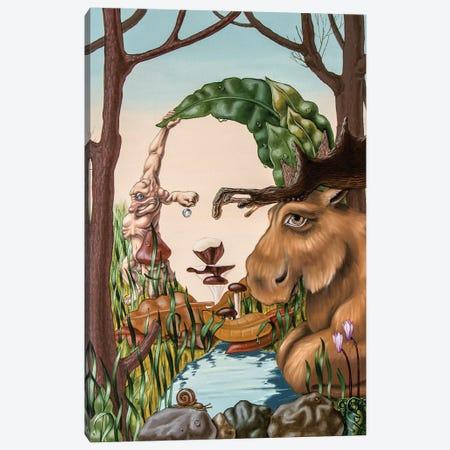 Mona Lisa - Ground Canvas Print #VMO55} by Victor Molev Canvas Print