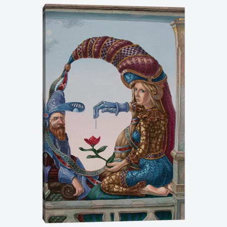 Mona Lisa - Love Canvas Print #VMO57} by Victor Molev Canvas Print