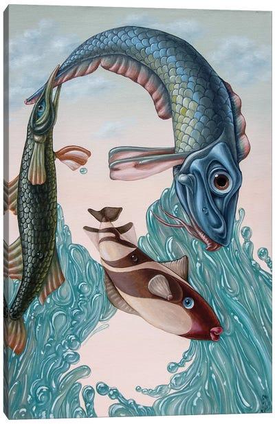 Mona Lisa -Water Canvas Art Print