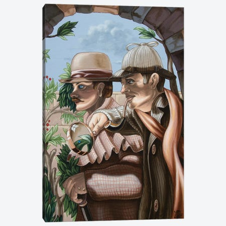 New Story By Sir Arthur Conan Doyle About Sherlock Holmes Canvas Print #VMO61} by Victor Molev Art Print