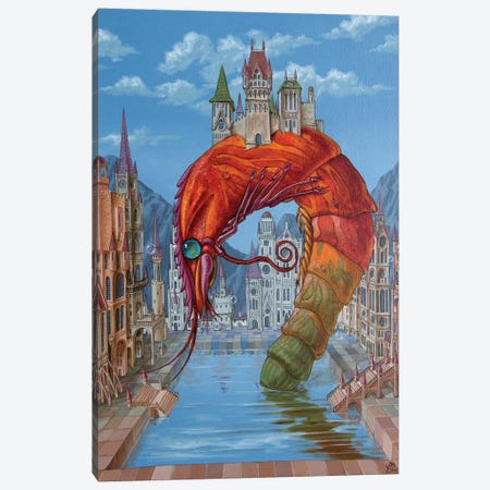 Red Shrimp Canvas Print #VMO65} by Victor Molev Canvas Wall Art