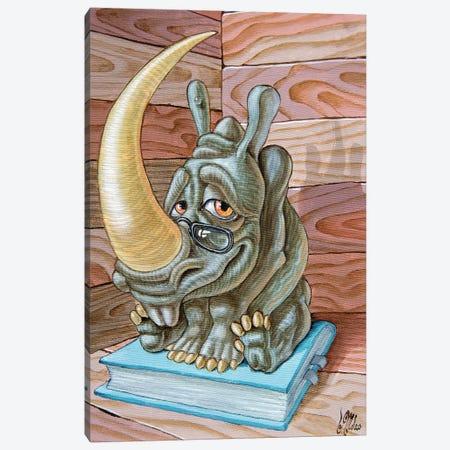 Rhino Canvas Print #VMO67} by Victor Molev Canvas Artwork
