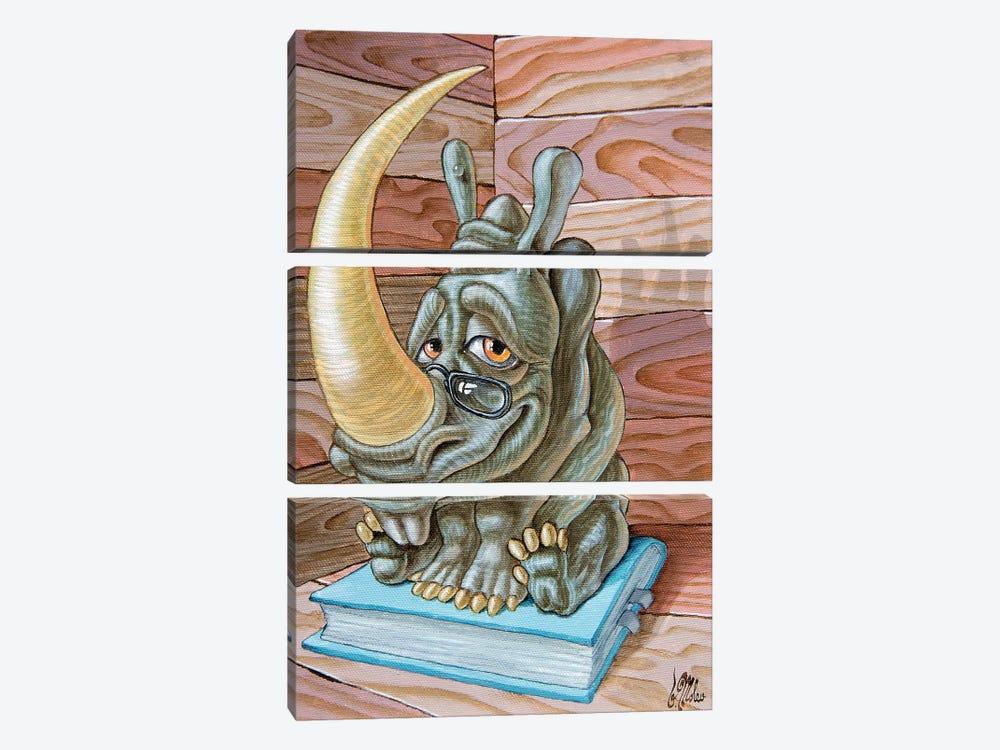 Rhino by Victor Molev 3-piece Canvas Print
