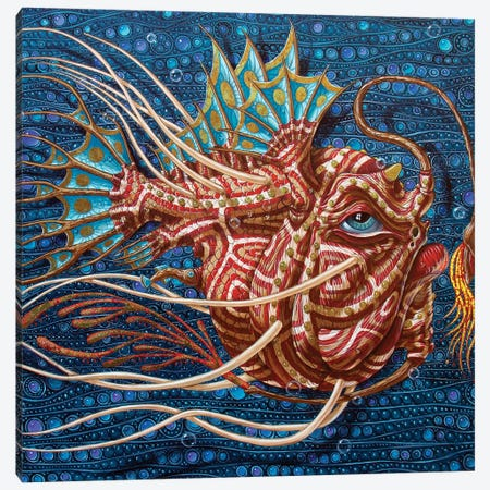 Anglerfish Canvas Print #VMO6} by Victor Molev Canvas Art Print