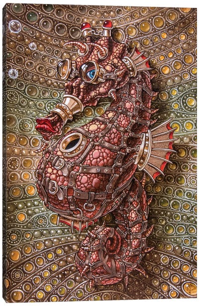 Seahorse In Steampunk Canvas Art Print