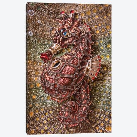 Seahorse In Steampunk Canvas Print #VMO72} by Victor Molev Canvas Art