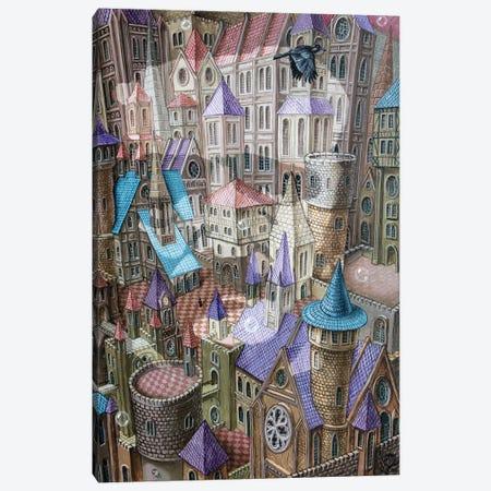 The City Of Crow Canvas Print #VMO75} by Victor Molev Canvas Art Print