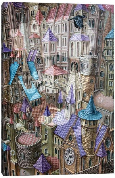 The City Of Crow Canvas Art Print
