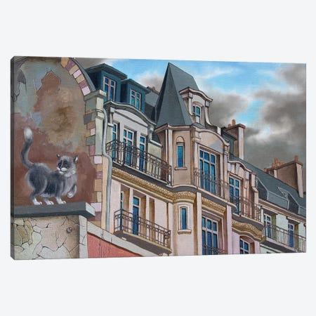 The Roofs Of Paris. Boulevard Montparnasse Canvas Print #VMO77} by Victor Molev Art Print