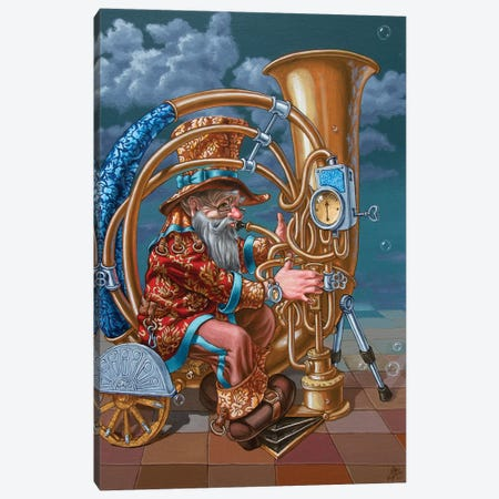 Tuba Canvas Print #VMO80} by Victor Molev Canvas Art Print