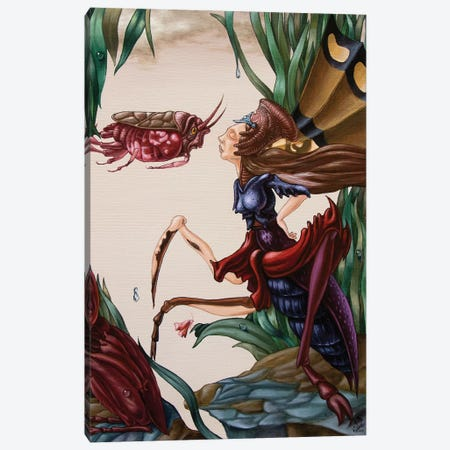 Unsung Song Of Alice Cooper About Love Of Insects Canvas Print #VMO81} by Victor Molev Canvas Print