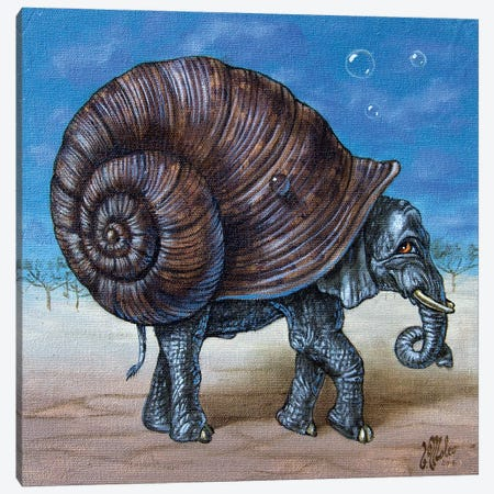 Snailephant Canvas Print #VMO86} by Victor Molev Canvas Wall Art