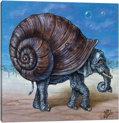 Snailephant Canvas Art Print
