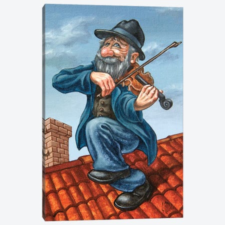 Fiddler On The Roof Canvas Print #VMO87} by Victor Molev Canvas Wall Art