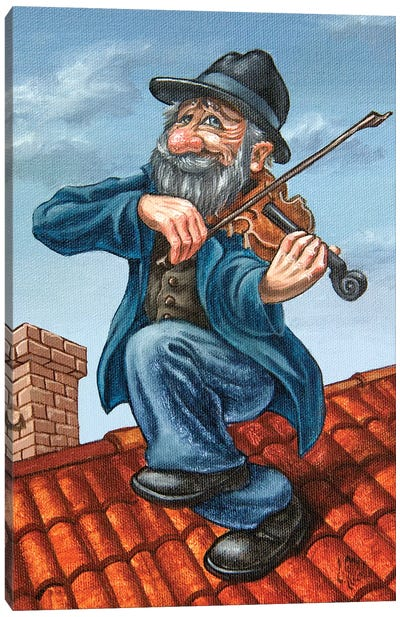 Fiddler On The Roof Canvas Art Print