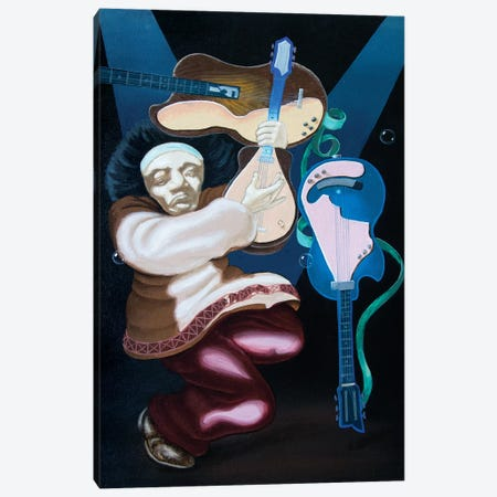 Jimi Hendrix Canvas Print #VMO90} by Victor Molev Canvas Artwork