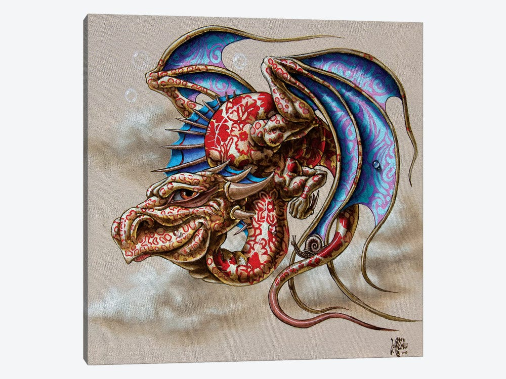 Dragon With A Snail by Victor Molev 1-piece Canvas Print