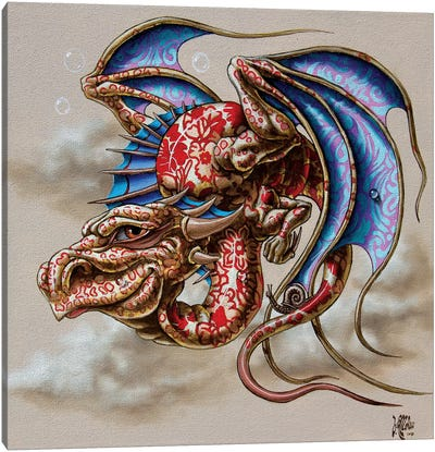 Dragon With A Snail Canvas Art Print