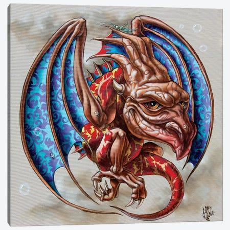 Dragon With Grasshopper Canvas Print #VMO93} by Victor Molev Canvas Artwork