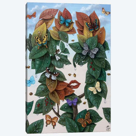 Flora Canvas Print #VMO97} by Victor Molev Art Print