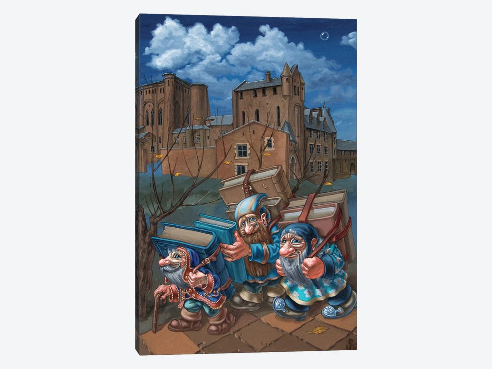Book Bearers by Victor Molev 1-piece Canvas Art