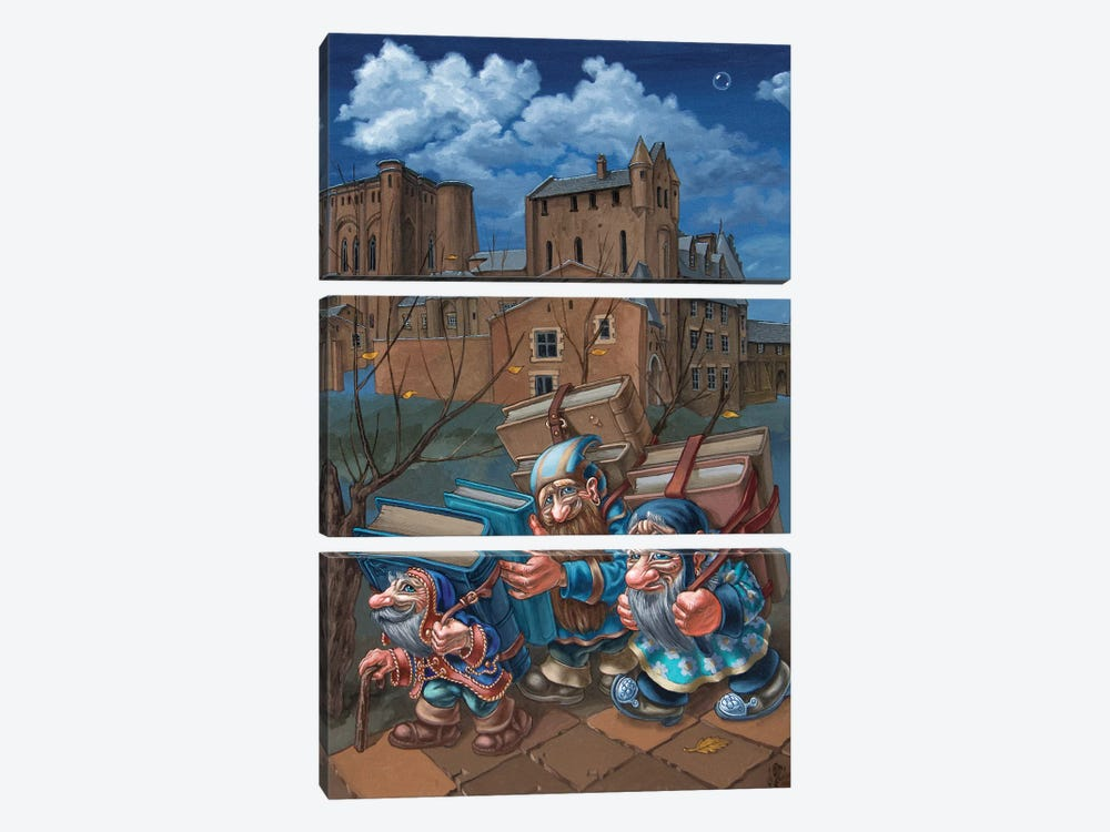 Book Bearers by Victor Molev 3-piece Canvas Artwork