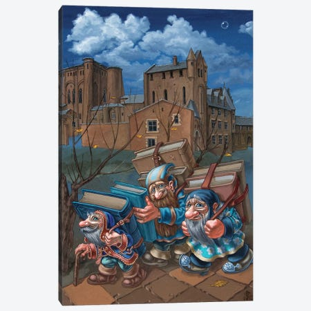 Book Bearers Canvas Print #VMO9} by Victor Molev Canvas Art