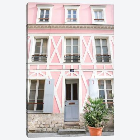 Pink Paris Canvas Print #VMX80} by Victoria Metaxas Canvas Wall Art