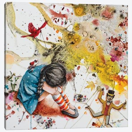 She Fall Asleep Canvas Print #VMZ15} by Virginie Mazureau Canvas Art