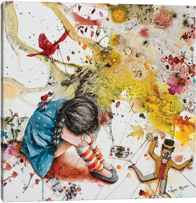 She Fall Asleep Canvas Art Print
